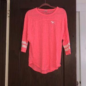 Pink 3/4 sleeve tshirt